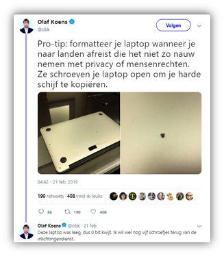 Olaf Koens Twittertip